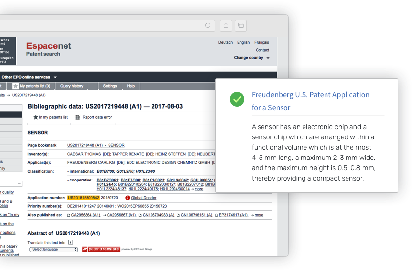 Custom processing of patent filings - Contify news data feeds