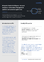 Market Intelligence API - Contify